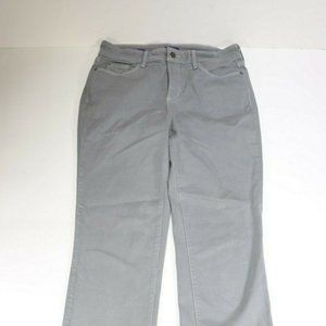 NYDJ Womens Marilyn Straight Gray Jeans Size 10